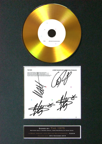 #178 THE 1975 a brief inquiry GOLD DISC Cd Album Signed Autograph Mounted Print