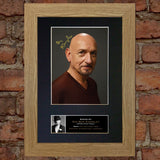 BEN KINGSLEY Mounted Signed Photo Reproduction Autograph Print A4 341
