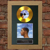 #161 GOLD DISC DRAKE Nothing Was The Same Album Signed Autograph Mounted Repr