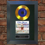 #95 GOLD DISC OLLY MURS In Case Album Signed Autograph Mounted Photo Repro A4