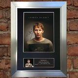 JAMES BLUNT Signed Autograph Mounted Photo Reproduction A4 397