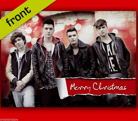 UNION J (No2) Autograph Signed Christmas Card Print INCLUDES ENVELOPE A5 Size
