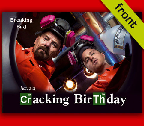 (No1) BREAKING BAD Autograph Signed Birthday Card Reproduction Print