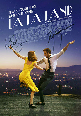 LA LA LAND Ryan Gosling Autograph FILM MOVIE POSTER Print Signed by 2 of Cast