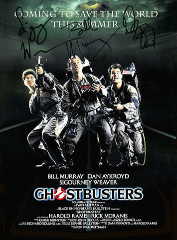 GHOSTBUSTERS Autograph POSTER Signed by 3 of Cast Rare Quality Print