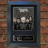 MY CHEMICAL ROMANCE Mounted Signed Photo Reproduction Autograph Print A4 112