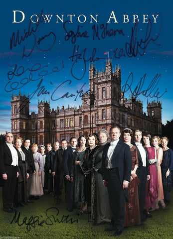 DOWNTON ABBEY SIGNED AUTOGRAPH MOVIE REPRODUCTION PRINT POSTER A2 594 x 420mm