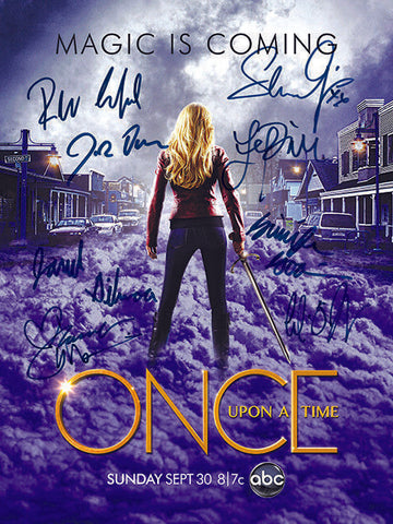 ONCE UPON A TIME Autograph POSTER Signed by 8 of Cast Rare Quality Print