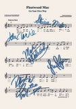 Fleetwood Mac Your Own Way Signed Music Sheet Album Autograph Mounted Print #800