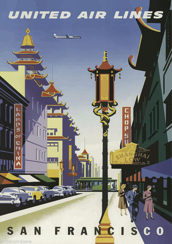 SAN FRANCISCO #1 VINTAGE RETRO TRAVEL Poster Nostalgic Home Print Wall Decor #66