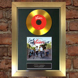 #101 GOLD DISC THE VAMPS Meet the Vamps DVD Signed Autograph Mounted Repro A4