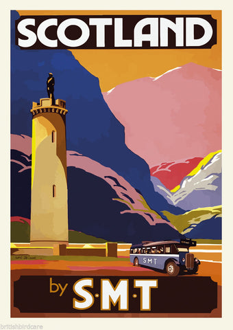 SCOTLAND VINTAGE RETRO TRAVEL Poster Nostalgic Home Print Wall Art Decor #69