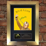 BILLIE EILISH Photo Autograph Mounted Repro Signed Framed Print A4 784