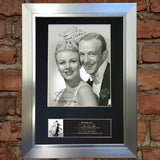 FRED ASTAIRE & GINGER ROGERS Signed Autograph Mounted Photo Repro A4 Print 599
