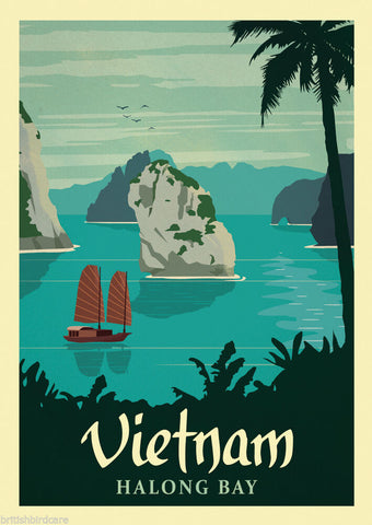 VIETNAM VINTAGE RETRO TRAVEL Poster Nostalgic Home Print Wall Art Decor #74