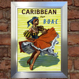 CARIBBEAN VINTAGE RETRO TRAVEL Poster Nostalgic Home Art Print Wall Decor #26
