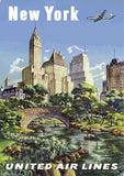 NEW YORK #4 VINTAGE RETRO TRAVEL Poster Nostalgic Home Print Wall Art Decor #62