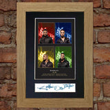 JLS No1 leather jackets Mounted Signed Photo Reproduction Autograph Print A4 200