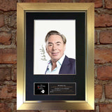 ANDREW LLOYD WEBBER Signed Autograph Mounted Photo REPRODUCTION PRINT A4 370