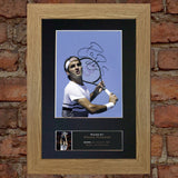 ROGER FEDERER tennis Signed Autograph Mounted Photo REPRODUCTION PRINT A4 671