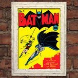 BATMAN Comic Cover 1st Edition Cover Reproduction Vintage Wall Art Print #1