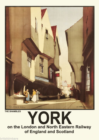 YORK VINTAGE RETRO TRAVEL Poster Nostalgic Home Print Wall Art Decor #75