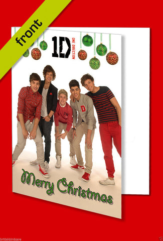 ONE DIRECTION Autograph CHRISTMAS Card Reproduction signed by all 5 Members