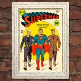 SUPERMAN Comic Cover 12th Edition Cover Reproduction Vintage Wall Art Print #27
