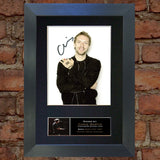 CHRIS MARTIN Coldplay Quality Autograph Mounted Signed Photo Re Print A4 748