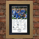 CHELSEA CHAMPIONS 2012 Mounted Signed Photo Reproduction Autograph Print A4 58