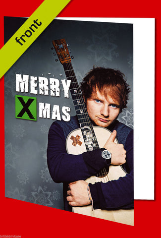 ED SHEERAN Autograph CHRISTMAS CARD Reproduction Including Envelope A5 Size