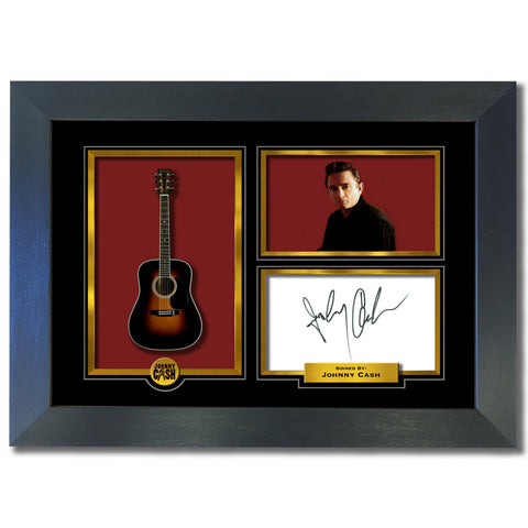 Johnny Cash FRAMED Autograph Signed Photo Birthday Christmas Gift Print 798