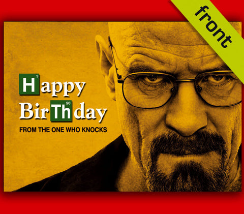 (No3) BREAKING BAD Autograph Signed Birthday Card Repro Print By Bryan Cranston