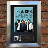 THE VACCINES Signed Autograph Mounted Photo Reproduction PRINT A4 566