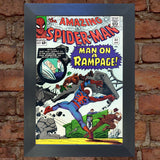 SPIDERMAN Comic Cover 32nd Edition Cover Reproduction Vintage Wall Art Print #10