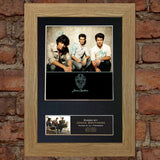 JONAS BROTHERS Mounted Signed Photo Reproduction Autograph Print A4 207