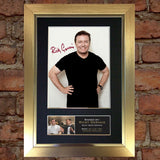RICKY GERVAIS Mounted Signed Photo Reproduction Autograph Print A4 22