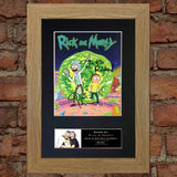 RICK AND MORTY Quality Autograph Mounted Signed Photo RePrint Poster 749