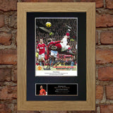 WAYNE ROONEY OVERHEAD KICK Mounted Signed Photo Reproduction Autograph Print 55