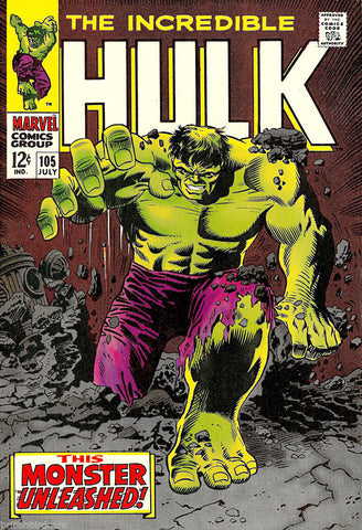 HULK Comic Cover 105th Edition Cover Reproduction Vintage Wall Art Print #6