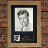 SIR ROGER MOORE Mounted Signed Photo Reproduction Autograph Print A4 274