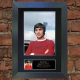 GEORGE BEST Signed Autograph Mounted Photo Reproduction PRINT A4 140