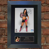 A J LEE WWE Wrestler Quality Reproduction Autograph Mounted Photo Print A4 570