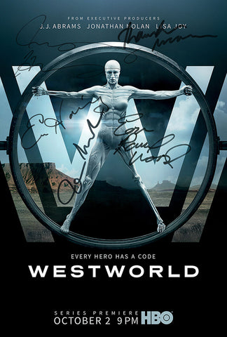 WESTWORLD POSTER Signed Autograph Photo Top Quality Reproduction Print