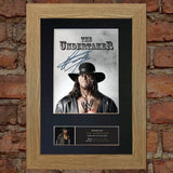THE UNDERTAKER WWE Quality Autograph Mounted Photo Repro Print A4 481