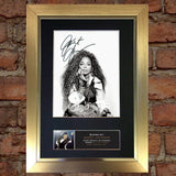 JANET JACKSON Quality Autograph Mounted Signed Photo Reproduction PRINT A4 670
