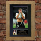 PAUL GASCOIGNE GAZZA Autograph Mounted Signed Photo Reproduction A4 313