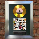 #175 BTS GOLD DISC I Need You / U Single Cd Signed Autograph Mounted Print