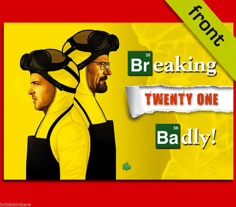 BREAKING BAD 21st Autograph Signed Birthday Card Reproduction Print
