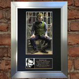 HEATH LEDGER Joker Mounted Signed Photo Reproduction Autograph Print A4 18